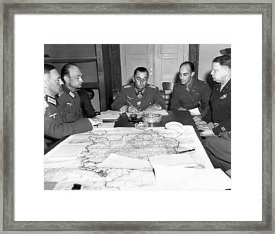German Army Group G Surrender Framed Print