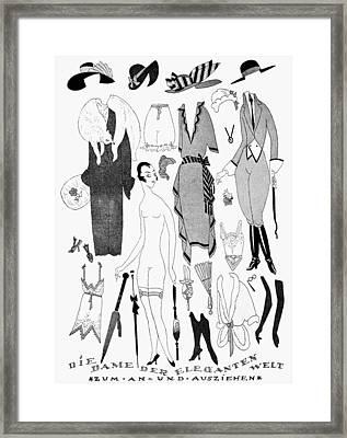 German Fashion, 1921 Framed Print by Granger
