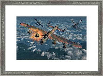 German Fw-190 Fighter Planes Attacking Framed Print
