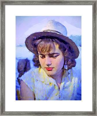 German Girl On The Rhine Framed Print