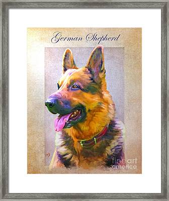 German Shepherd Portrait Framed Print by Iain McDonald