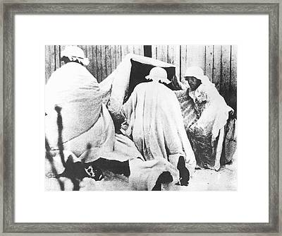 German Soldiers In Russia Framed Print by Underwood Archives
