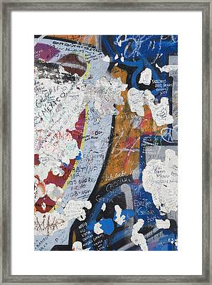 Germany, Berlin Wall Berlin Framed Print by Teresa Ar�valo de Zavala