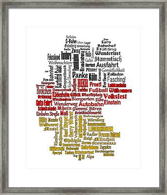 Germany Map Framed Print