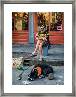 Gettin' By In New Orleans Framed Print by Steve Harrington