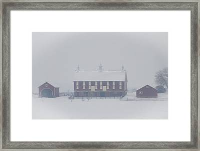 Gettysburg Farm In Winter Framed Print by Bill Cannon
