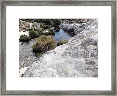 Geyser Sulfur Framed Print by Ron Torborg