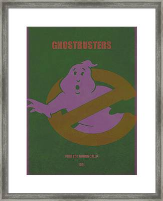 Framed Print featuring the digital art Ghostbusters Movie Poster by Brian Reaves