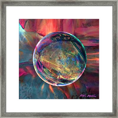 Ghosting Psychedelic Lace Framed Print by Robin Moline