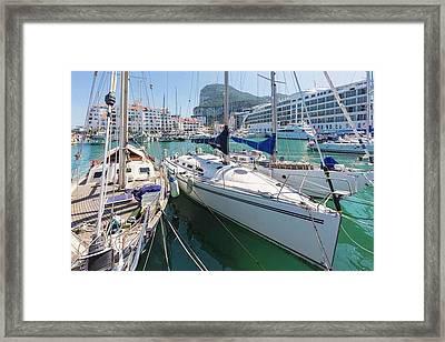 Gibraltar.   Marina Bay Framed Print by Ken Welsh
