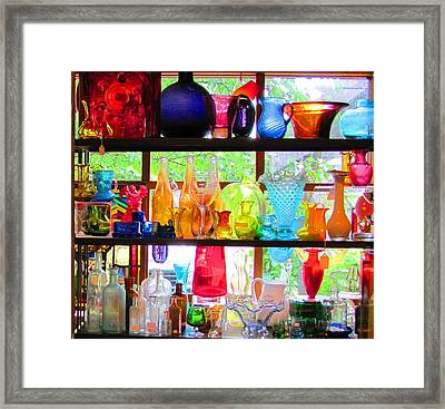 Gifts Of Glass Framed Print by Jeanne Porter