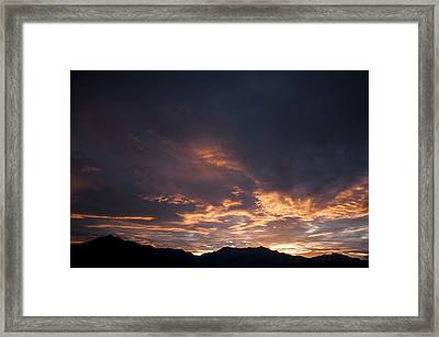 Gila River Indian Sunset Framed Print by Anthony Citro