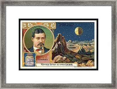 Giovanni Schiaparelli Lunar Advert Framed Print by Detlev van Ravenswaay