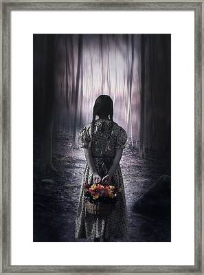 Girl In The Woods Framed Print by Joana Kruse
