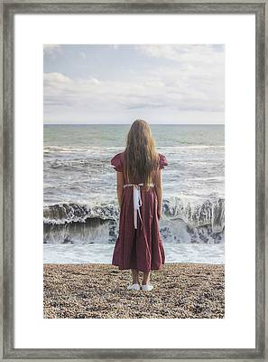 Girl On Beach Framed Print by Joana Kruse