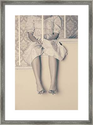 Girl On Steps Framed Print