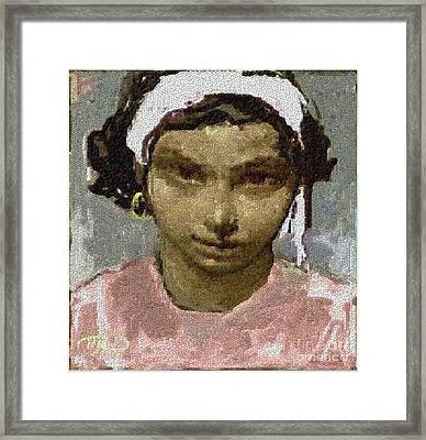 Girl Framed Print by Pemaro