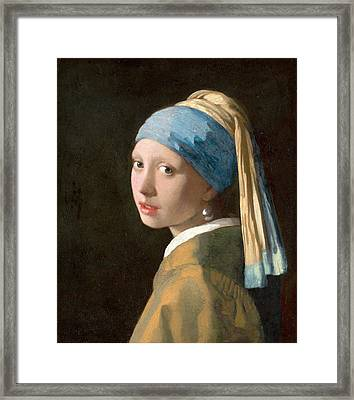 Girl With A Pearl Earring Framed Print
