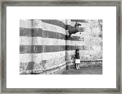 Girl With Balloon Framed Print by Kate Livingston
