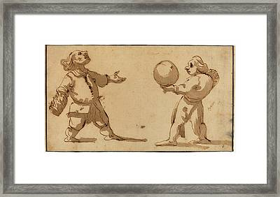 Giuseppe Maria Mitelli, Italian 1634-1718 Framed Print by Litz Collection