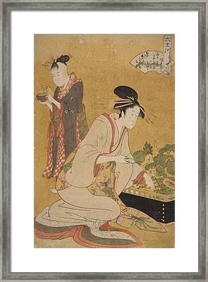 Ôgiya Uchi Yashio, Someki, Tsumaki = Yashio Framed Print by Artokoloro