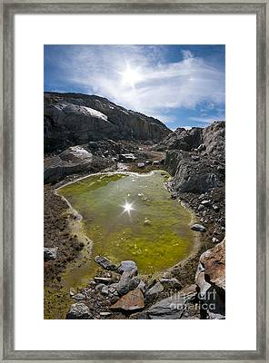 Glacial Meltwater, Switzerland Framed Print