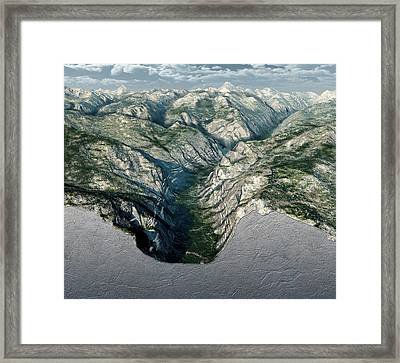 Glacier-carved Kings Canyon Framed Print