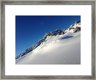 Glacier Framed Print by Ron Torborg