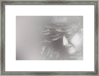 Glamorous Girl With Luxury Salon Hair Style Framed Print by Jorgo Photography - Wall Art Gallery