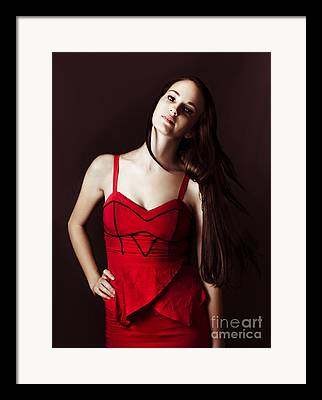 Dressed In Contemporary Clothing Framed Prints