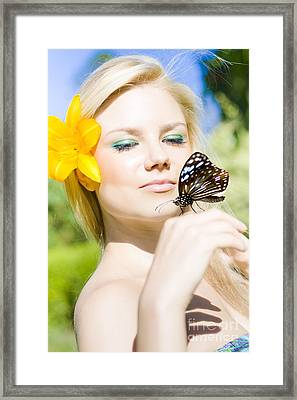 Glamour In Nature Framed Print
