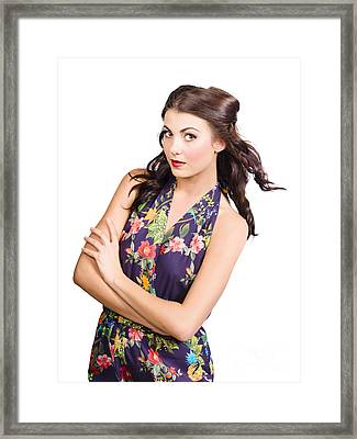 Glamour Portrait Of Beautiful Woman Makeup Model Framed Print by Jorgo Photography - Wall Art Gallery
