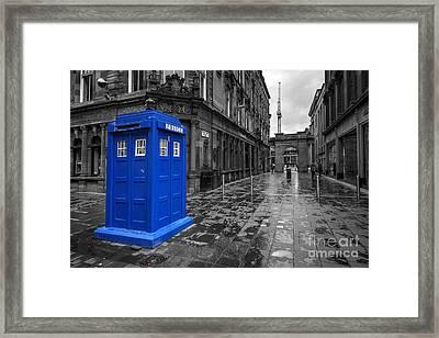 Glasgow Police Box  Framed Print