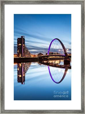 Glasgow River At Night Framed Print by John Farnan