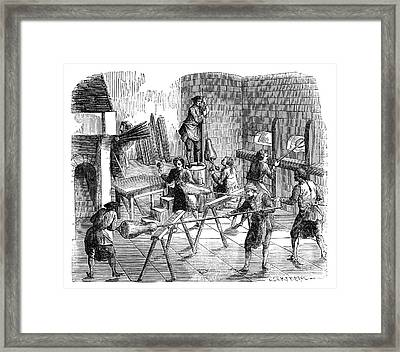 Glass-blowing Industry Framed Print