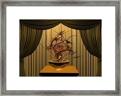 Glass Flowers Framed Print by Louis Ferreira