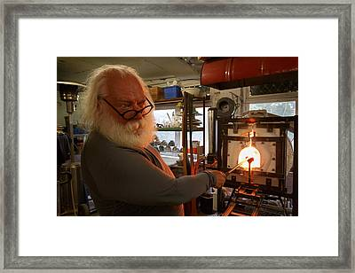 Glass Furnace Framed Print by Paul Indigo