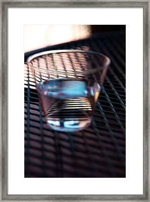 Glass Half Full Framed Print by David Patterson
