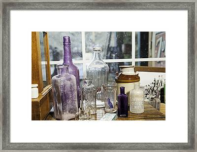 Glass In The Window  Framed Print
