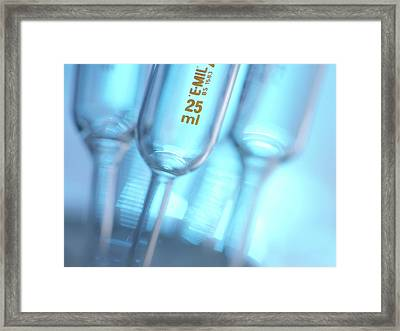 Glass Pipettes Framed Print