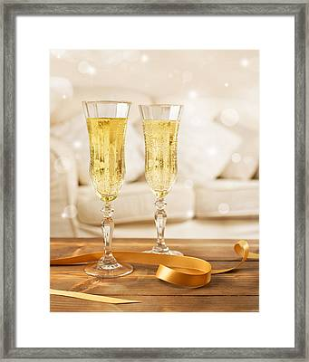 Glasses Of Champagne Framed Print