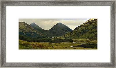 Framed Print featuring the photograph Glen Etive Highlands Of Scotland by Jane McIlroy