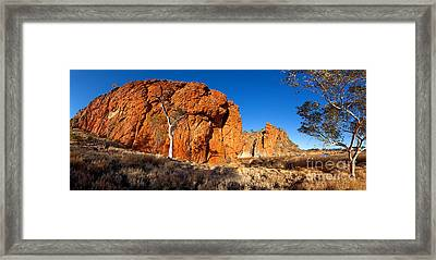 Glen Helen Gorge Framed Print