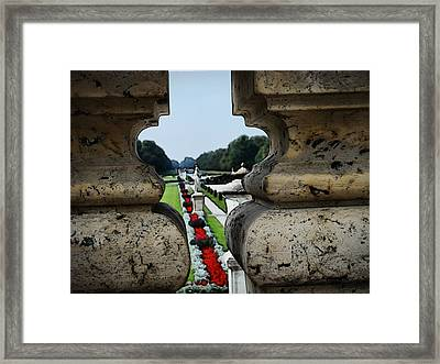 Glimpse Of The Nymphenburg Garden Framed Print