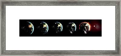 Global Destruction Framed Print