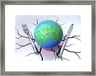 Global Food Production Framed Print