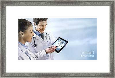 Global Healthcare, Conceptual Image Framed Print by Science Photo Library
