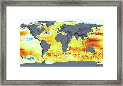Global Sea Level Rise Framed Print by Nasa's Scientific Visualization Studio