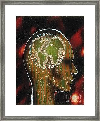 Globally Minded Framed Print