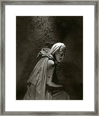 Gloria Swanson In Character Framed Print by Edward Steichen